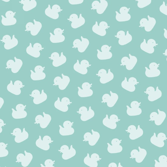 Studio E  Ducky Tales By Lucie Crovatto Teal Ducks By The 1/2 Yard