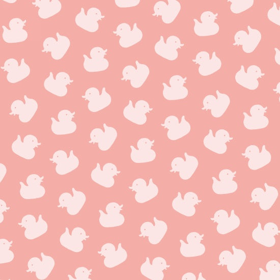 Studio E  Ducky Tales By Lucie Crovatto Pink Ducks  By The 1/2 Yard