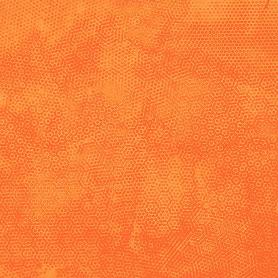 Andover  Fabric by the Half Yard Dimples Color o14 PERSIMMON