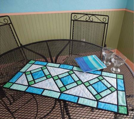 Cut Loose Press Stained Glass Table Runner Pattern