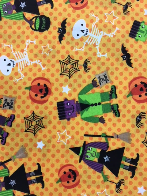 Halloween Parade Quilting Fabric By The 1/2 Yard
