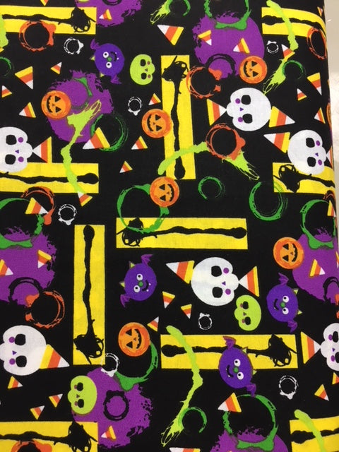 Halloween Play Quilting Fabric By The 1/2 Yard