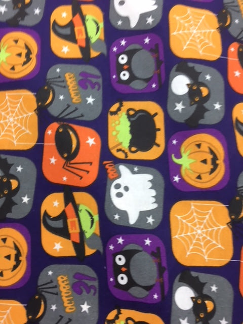 Halloween Treat Quilting Fabric By The 1/2 Yard