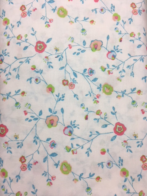 The Blend Katy Tanis Quilting Fabric By The 1/2 Yard Garden Party White