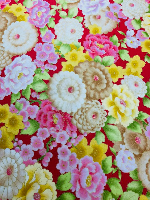 Quilting Fabric By The 1/2 Yard Andover Mandalay Breeze
