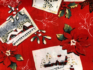 Quilting Fabric By The 1/2 Yard Christmas Quilting Fabric Winter Scene