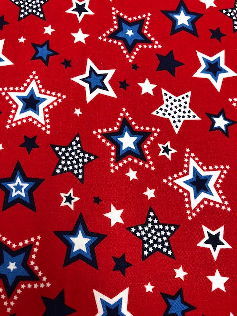 Studio E Red White & Starry Blue Quilting Fabric By The 1/2 Yard #88