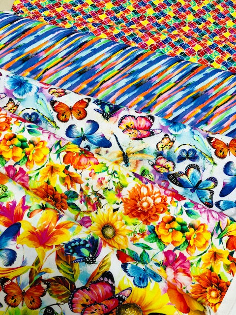 Oasis Fantasy  Quilting Fabric 5 Fat Quarter Bundle