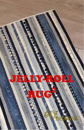 Pattern - Jelly Roll Rug 2 (Squared) by RJ Designs