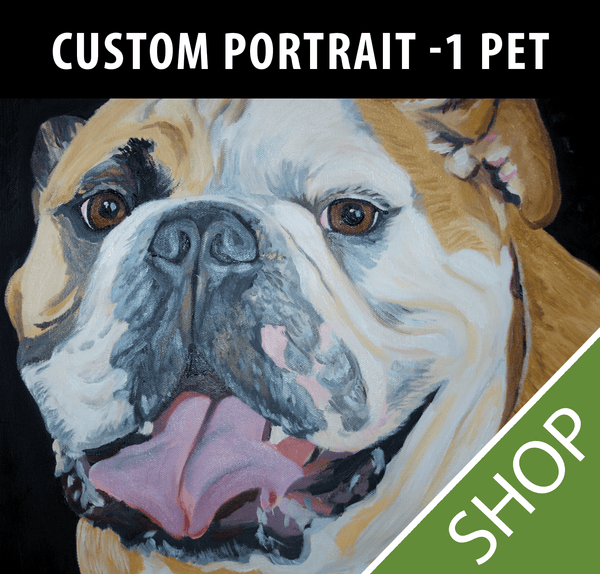 Custom Painted Portrait <br><strong>1 Pet</strong>