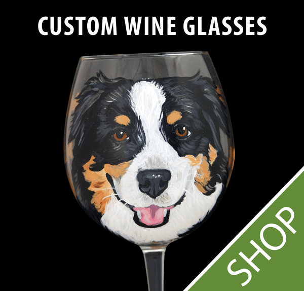 Custom Painted Wine Glass  - 20 oz.
