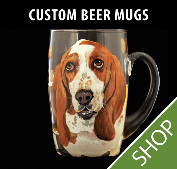 Custom Painted Beer Mug - 20 oz.