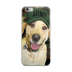 Yellow Lab - Lady Liberty in Army Hat - iPhone 5/5s/Se, 6/6s Plus Case