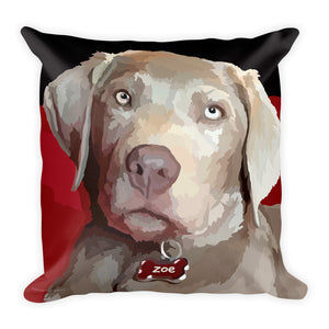 Zoe the Silver Lab - Square Pillow