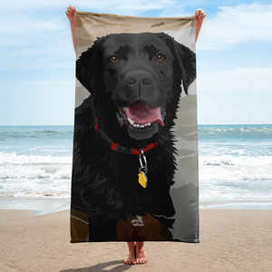 Abby the Black Lab in Water - Towel