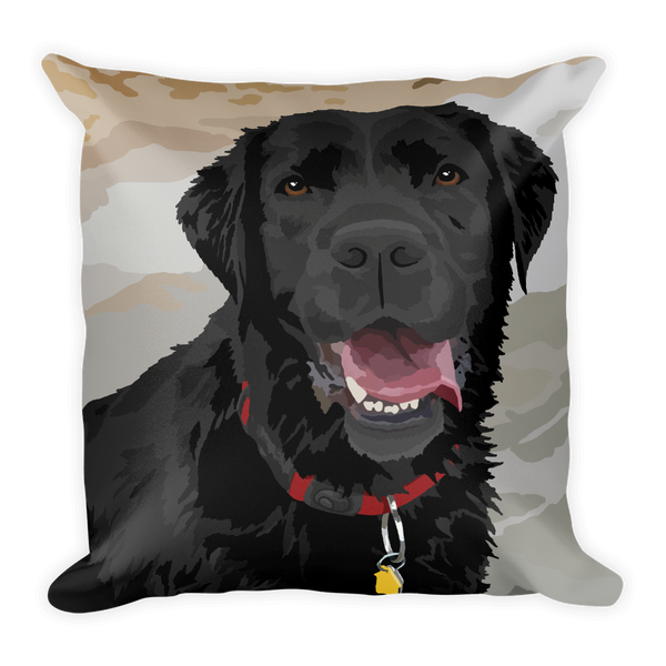 Black Lab - Abby - Square Pillow