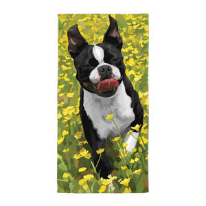 Abigail the Boston Terrier - Towel