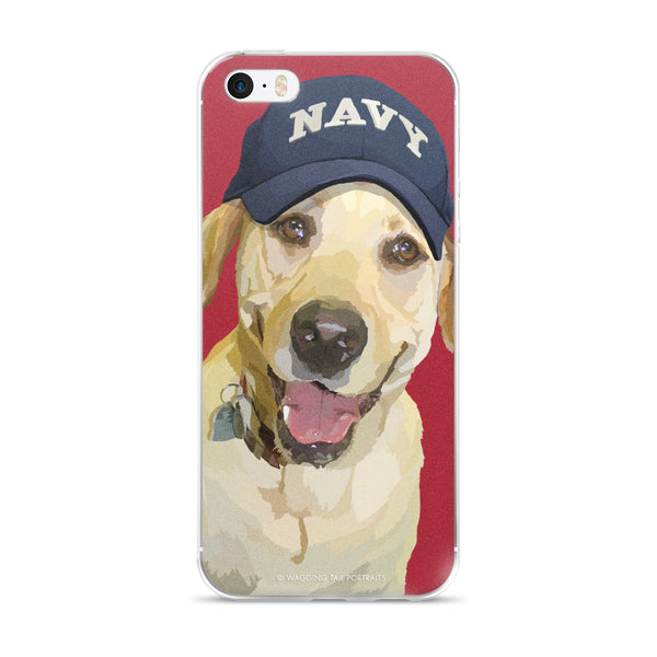 Yellow Lab - Lady Liberty in Navy Hat - iPhone 5/5s/Se, 6/6s Plus Case