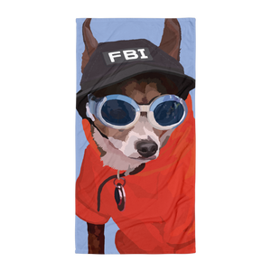 Peabody the FBI Chihuahua Short Hair - Towel