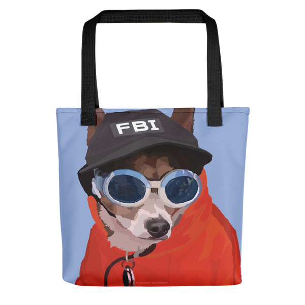 Peabody the FBI Chihuahua Short Hair - Tote bag