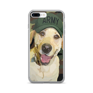 Yellow Lab - Lady Liberty in Army Hat - iPhone 7/7 Plus Case
