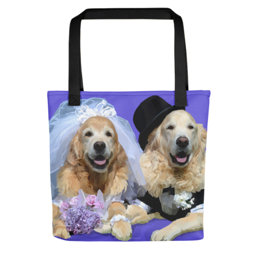 Golden Retrievers - Bri and Bentley Wedding - Tote bag