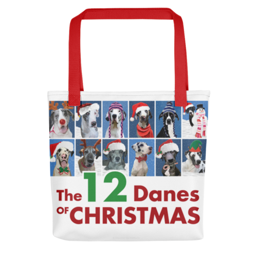 The 12 Danes of Christmas Tote bag