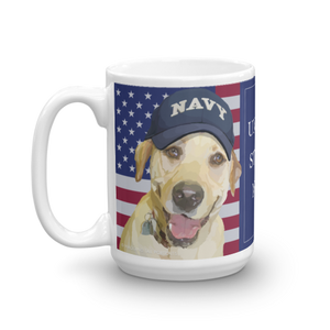 United States Navy Mug (Black & Yellow Labs)