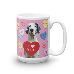 A Great Dane Valentine Mug (Abbott & Costello)