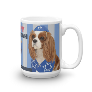 Happy Hanukkah Mug (King Charlies Cavaliers)