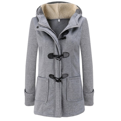 Thick Coats Cotton Solid Zipper