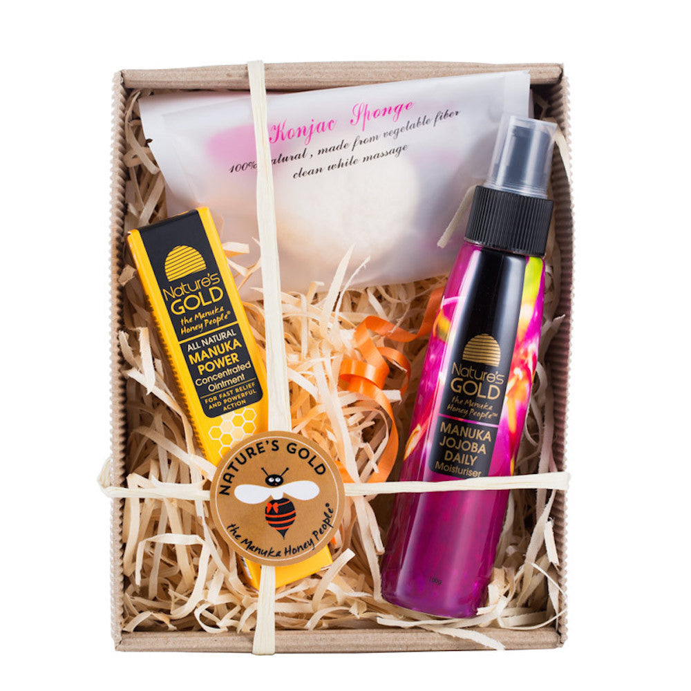 Jojoba and Manuka Power Gift Box - Manuka Honey Skincare Set by Nature's Gold