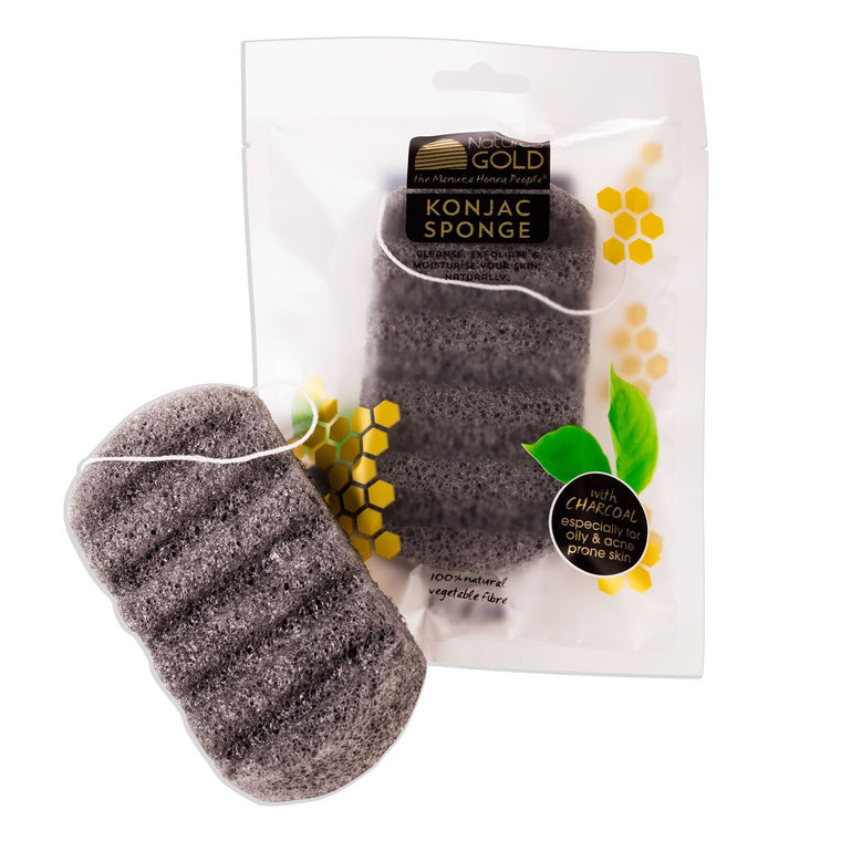 Konjac Sponge with Charcoal - Manuka Honey Cream,  - Eczema Cream for dry skin, Nature's Gold USA - Nature's Gold, Nature's Gold USA - Manuka Honey Skincare