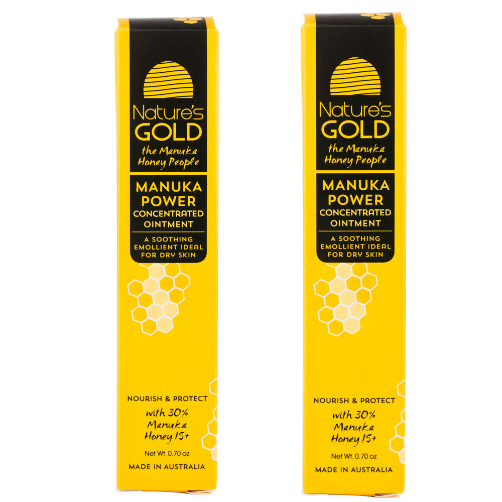 Manuka Honey Concentrated Ointment by Nature's Gold Twin Pack. NPA/UMF 15+.  For Eczema relief