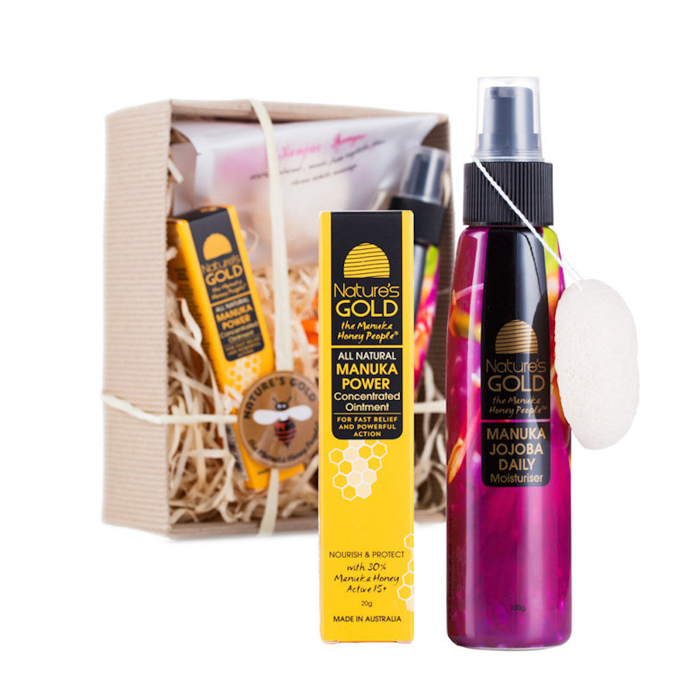Manuka Honey and Jojoba Skincare Gift Set by Nature's Gold