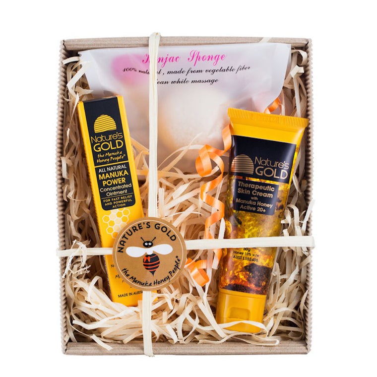 Mankua Skin Cream and Manuka Power Gift Box - Manuka Honey Cream,  - Eczema Cream for dry skin, Nature's Gold USA - Nature's Gold, Nature's Gold USA - Manuka Honey Skincare