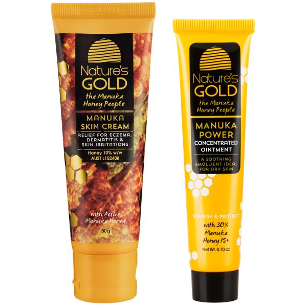 Manuka Honey Turbo Twin Pack - Manuka Honey Cream, Therapeutic - Eczema Cream for dry skin, Nature's Gold USA - Nature's Gold, Nature's Gold USA - Manuka Honey Skincare