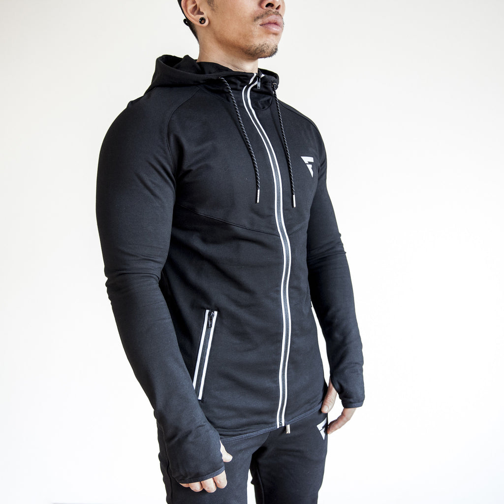 Fit Capital Lunar Zip-Up Hoodie Black