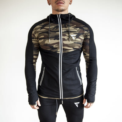 Fit Capital Lunar Zip-Up Hoodie Camouflage
