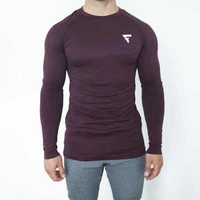 Seamless Torch Long Sleeve - Burgundy