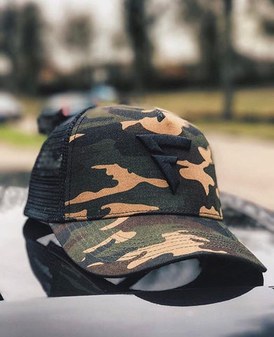 Fit Capital Camouflage Adjustable Truckers cap