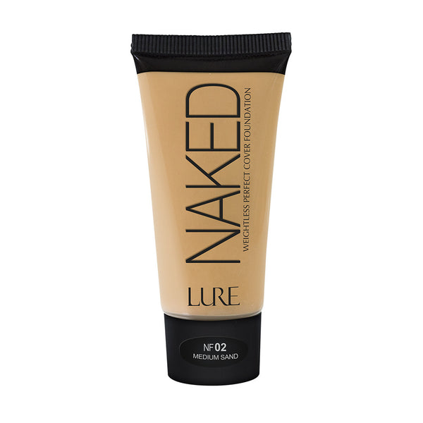 Lure - Naked Weightless Perfect Cover Foundation - Base de Maquillaje de Cobertura Amplia con Acabado Mate