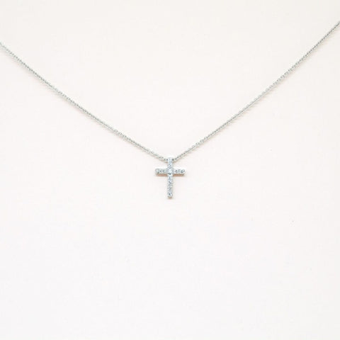 14kt Gold Diamond Cross Necklace