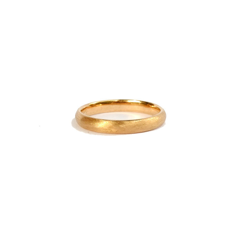 Low Dome 3mm Band (14kt | 18kt Gold)