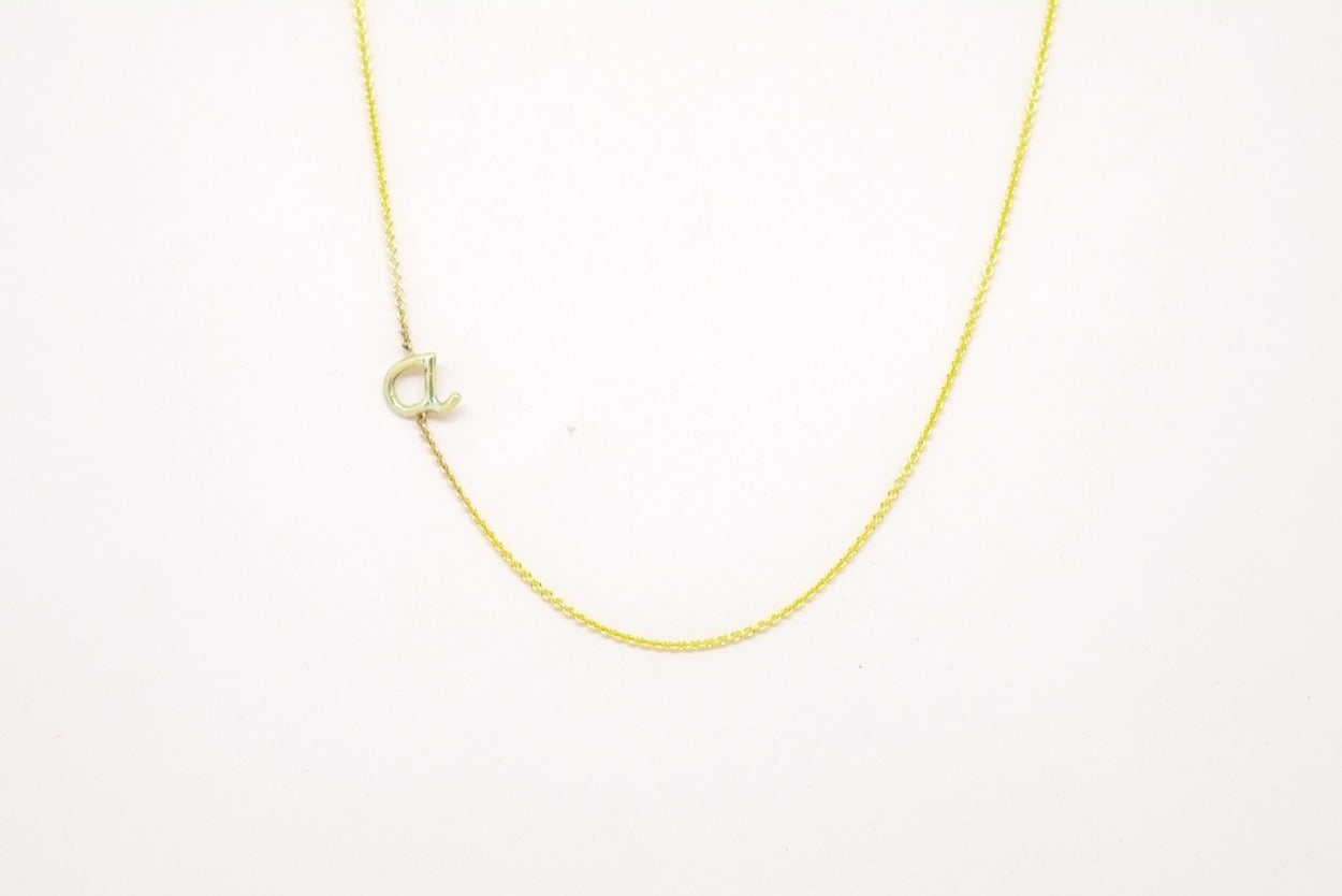 Initial Necklace (One Letter)
