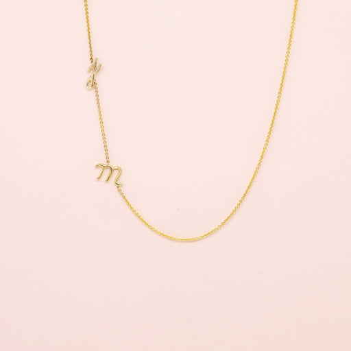 Initial Necklace (Two Letters)