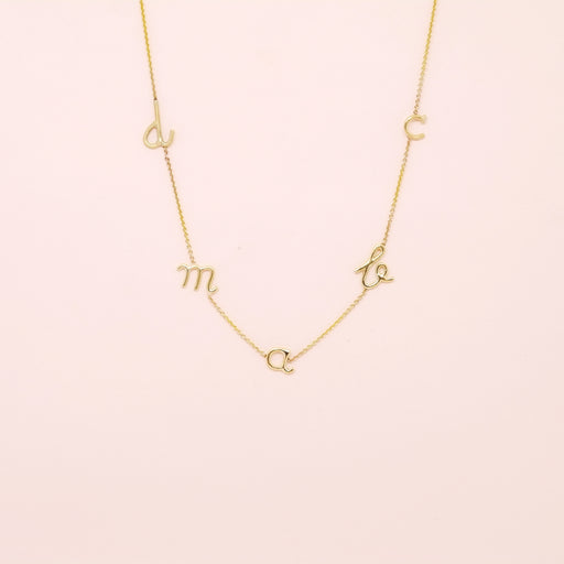 Initial Necklace (Five Letters)