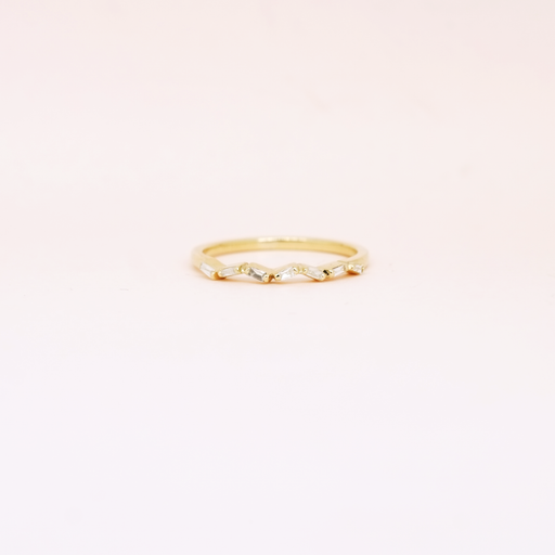 Confetti Baguette Diamond Band (14kt | 18kt Gold)
