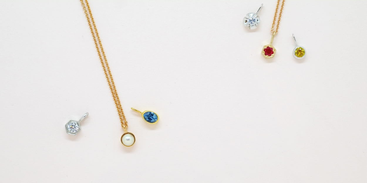 Diamond (April) Birthstone Necklace