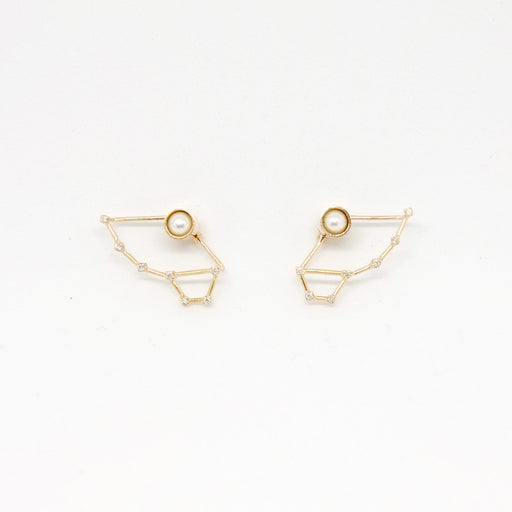 Constellation Little Dipper Earrings (14kt Gold)